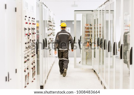 Using protective relay and medium voltage switchgear. Engineering department. Bay control unit