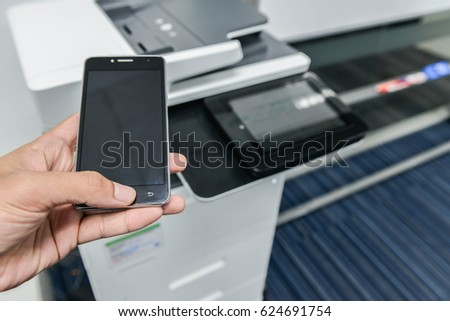 using smart phone with printer...