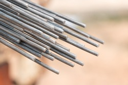 Using steel wire for securing steel bars with wire rod for reinforcement of concrete or cement. focus to steel wire