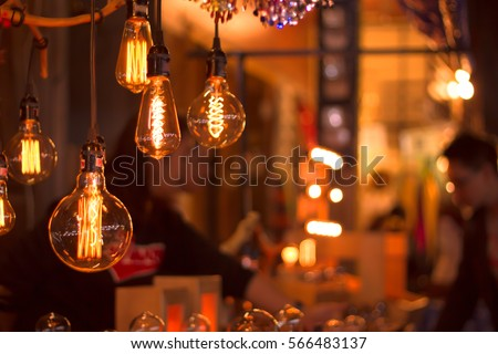 Using the vintage lamp decorated street stalls.