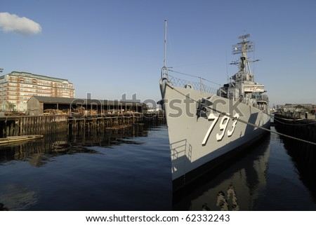 USS Cassin Young, berthed at the Boston Naval Ship Yard.  It saw action in World War 2 as a destroyer.  It is now a float museum memorial ship