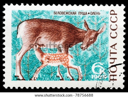 ussr   circa 1969  a stamp...