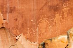 UT, Capitol Reef National Park, Fremont petroglyphs