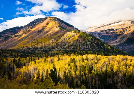 Utah Mountain in the Fall
