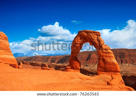 Utah's famous Delicate Arch in Arches National Park.