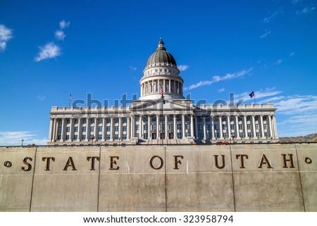 utah state capitol building in...