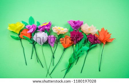 Handmade Crepe Paper Flowers Images And Stock Photos Page 2