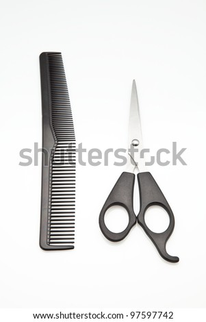 utensils for cutting and hair care