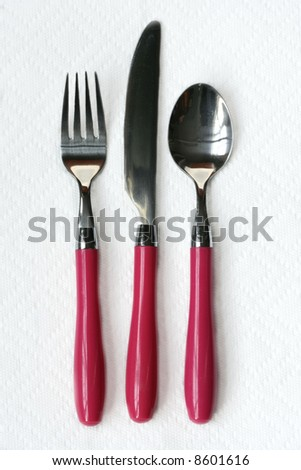 Utensils with Pink Handles
