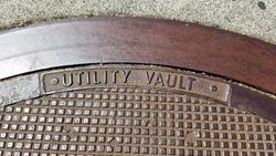 Utility vault manhole metal cover