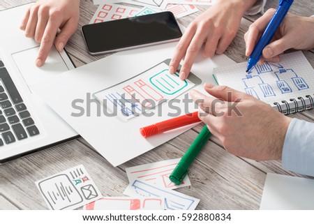 ux designer designing designers web phone prototype