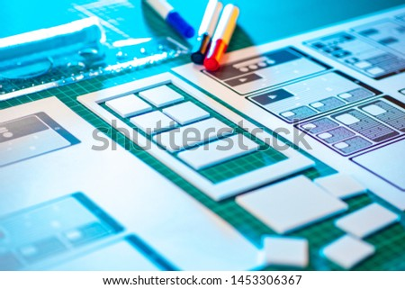 Ux ui design. Graphic designer at work. Selection of the mobile application interface. Web prototyping. Web infographics. Development of mobile application templates. #1453306367
