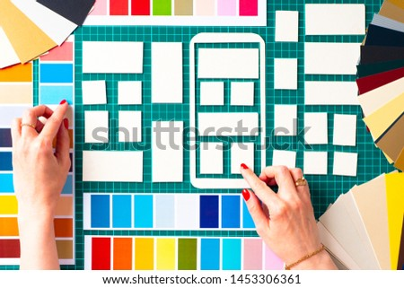 Ux ui design. Placing windows in the frame of the mobile application. Web interface choice. Web prototyping. Web infographics. Development of mobile application templates. #1453306361