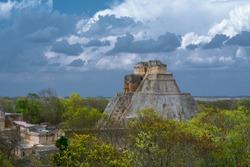 Uxmal's pyramid in Merida Yucatan.