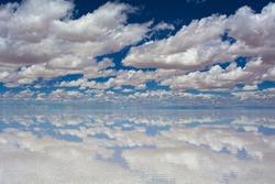 Uyuni salt lake in rain season