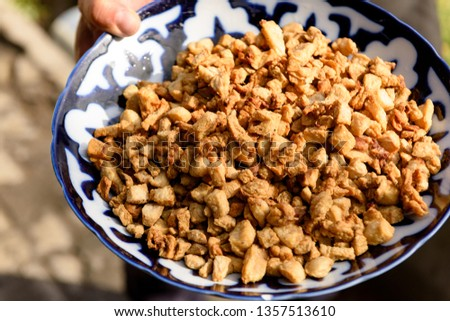Uzbek cuisine (food) pilaf (plov palov osh).