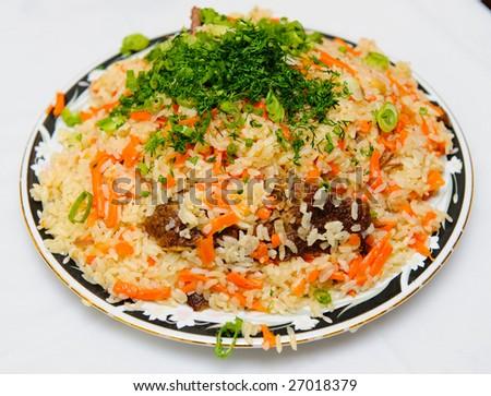 Uzbek national dish - plov