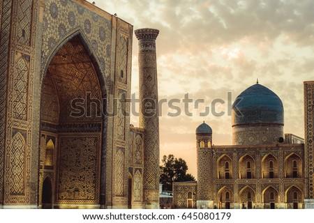 Uzbekistan (Samarkand mosque) Bibi-Xonim masjidi #645080179