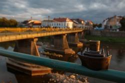 Uzhhorod, Ukraine - July 2, 2017: RMS Carpathia mini sculpture