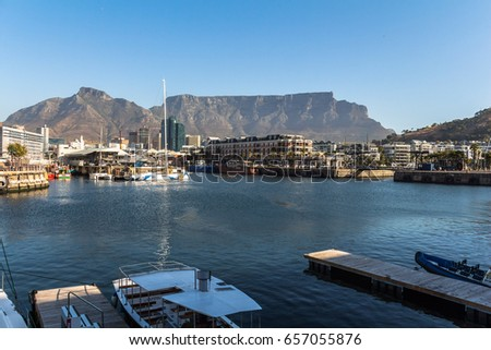 V&A Waterfront in Cape Town late afternoon #657055876