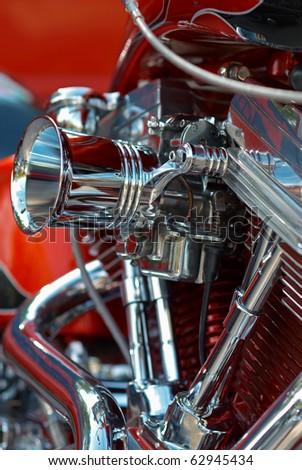 V-twin engine - stock photo