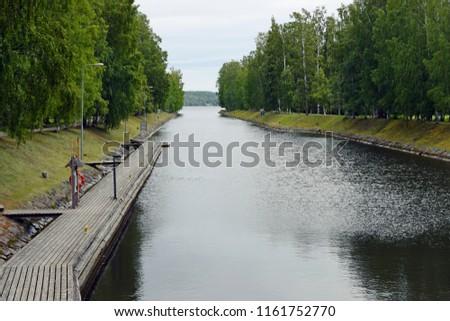 Vaaksy canal, Asikkala, Finland. It connects Lake Vesijarvi to Lake Paijänne.