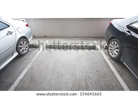 Vacant Parking Lot with Copy Writing Space