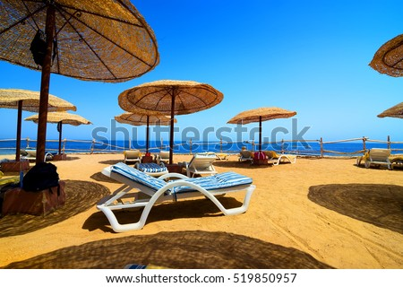 Vacation on the beach of Red sea in Egypt #519850957