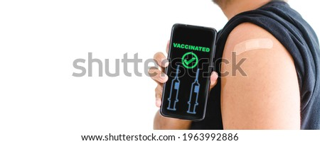 Vaccine medical health.Asian indian man getting vaccinated immunity in clinic.vaccine program, recommended inoculation, vaccination, vaccine volunteer or vaccinated patient.Coronavirus.passport.