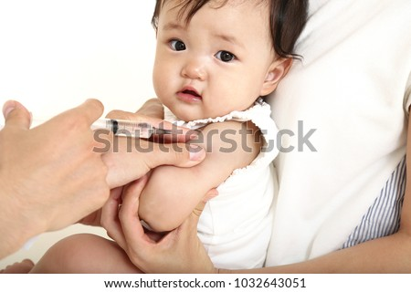 vaccine vaccination child baby doctor injection pediatrician injecting arm health immunization hand hospital needle syringe concept