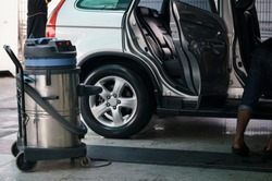 vacuum cleaner at carcare or auto washing service station