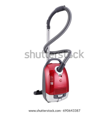 Vacuum Cleaner Isolated on White Background. Domestic Appliances. Household Cleaning Equipment. Cleaning House Tool. Electric Appliances. Household Appliances. Home Appliances #690643387