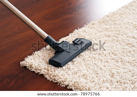Vacuum cleaner to tidy up.