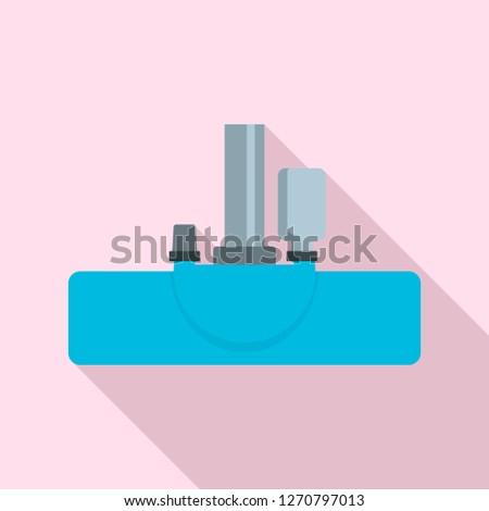 Vacuum cleanning head icon. Flat illustration of vacuum cleanning head icon for web design