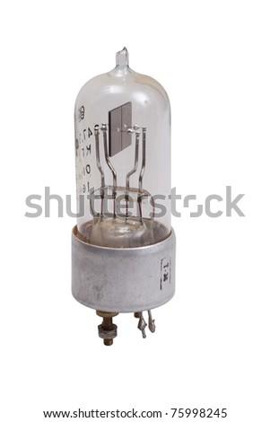 Vacuum electronic radio tube isolated on white background