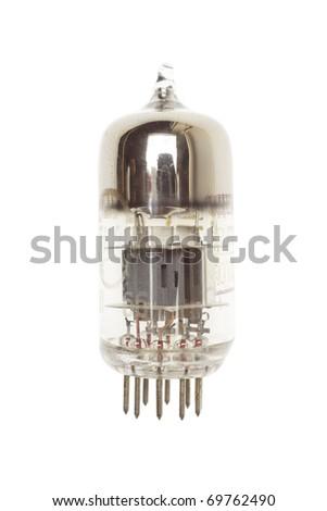 vacuum tube. isolated on white background