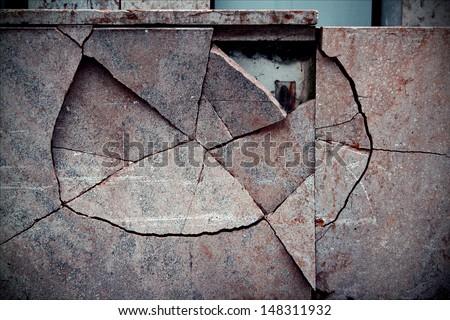vaduz liechtenstain abstract broken wall