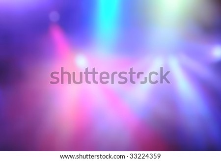 Vague background stage lighting