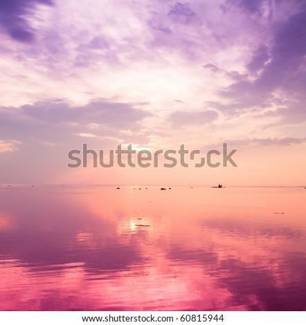 Vague Pink Sunset #60815944