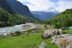 VAIRVAND : 19 Februay 2021 : The kaghan valley himalayan moutain range reulting in an alpine climate and the prevalence of pine forests and alpine meadows kaghan valley pakistan