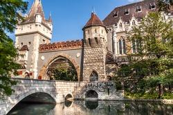 Vajdahunyad Castle in Budapest, Hungary.