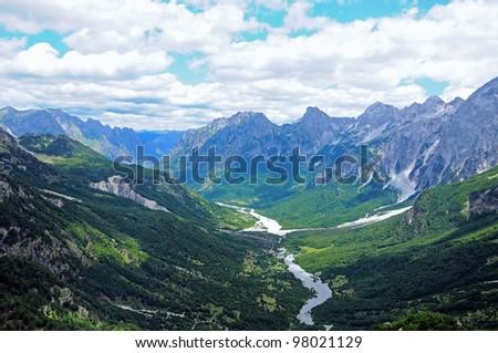 Valbona Valley National Park. Prokletije Mountains.