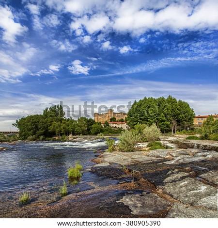 Valdecorneja Castle, El Barco de Avila, Sierra de Gredos, Spain Stock photo ©