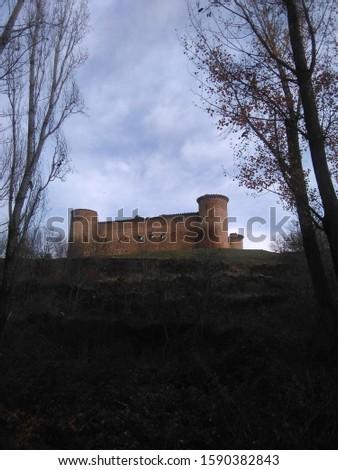Valdecorneja Castle is a 12th century castle Stock photo ©