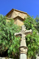 Valdemossa Old Town - Stone Cross near Sant Bartomeu Church