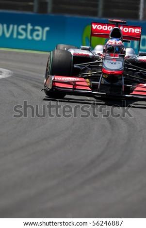 VALENCIA, SPAIN - JUNE 26: Formula 1 Valencia Street Circuit - Jenson Button - June 26, 2010 in Valencia, Spain