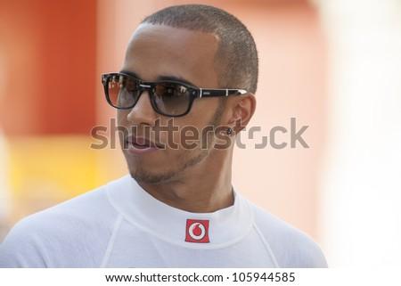 VALENCIA, SPAIN - JUNE 23: Lewis Hamilton in the Formula 1 Grand Prix of Europe, Valencia Street Circuit. Spain on June 23, 2012
