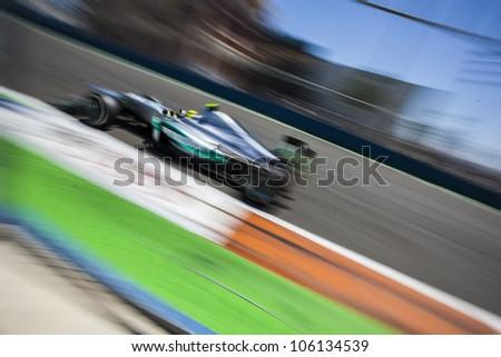 VALENCIA, SPAIN - JUNE 24: Nico Rosberg in the Formula 1 Grand Prix of Europe, Valencia Street Circuit. Spain on June 24, 2012