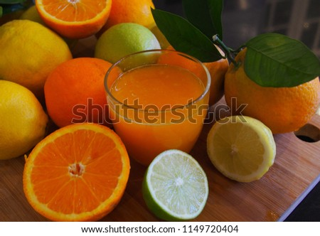 Valencian oranges and juice. Spain.Valencia #1149720404