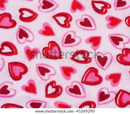 Valentine Background with Red, Pink and White Hearts